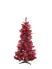 Fir tree FUTURA, red metallic, 180cm