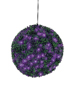 Boxwood ball with purple LEDs, artificial, 40cm