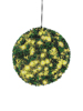 Boxwood ball with yellow LEDs, artificial, 40cm
