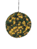 Boxwood ball with orange LEDs, artificial, 40cm