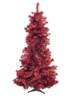 Fir tree FUTURA, red metallic, 210cm