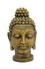 Head of Buddha, antique-gold, 75cm