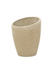 Deco cachepot STONA-77, round, beige