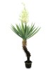 Europalms Yucca palm with blossoms, artificial plant, 222cm