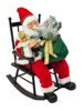 Santaclaus with rocking chair, 80cm