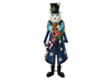 Snowman with Coat, Metal, 150cm, blue