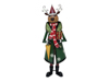 Reindeer with Coat, Metal, 155cm, green
