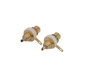 RCA mounting socket gold-plated 2x