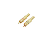 RCA plug gold-plated 5.4mm rd/bk 2x