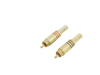 RCA plug gold-plated 7mm rd/bk 2x