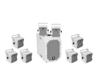 Omnitronic Set BOB-10A wh + 8x BOB-4 wh