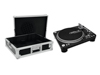 Set DD-5220L Turntable bk + Case tour Pro black -B-