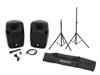 Omnitronic Set XFM-212AP + Speaker stand MOVE MK2