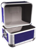 Record Case ALU 50/50, rounded, dark blue