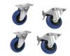 Roadinger Set Swivel castors 100mm blue 2x RD-100 + 2x RD-100B