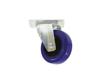 Swivel Castor 100mm blue shielded bearing
