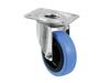 Swivel Castor 100mm BLUE WHEEL light blue