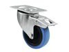 Swivel Castor 100mm BLUE WHEEL with brake