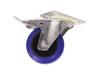 Swivel Castor 100mm blue with brake
