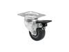 Roadinger Swivel Castor 50mm grey with brake