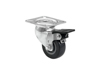 Swivel Castor 50mm grey with brake