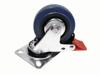 Swivel Castor 75mm blue with brake