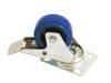 Roadinger Swivel Castor 80mm blue with brake