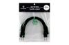 Eurorack patch cables 20cm 5 pcs black