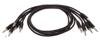 Eurorack patch cables 60cm 5 pcs black