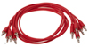 Eurorack patch cables 60cm 5 pcs red