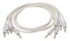 Eurorack patch cables 90cm 5 pcs white