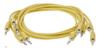 Eurorack patch cables 90cm 5 pcs yellow