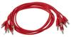 Eurorack patch cables 90cm 5 pcs red
