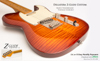 Dellatera Z-Glide Custom Flame Maple Top Vintage Sunburst