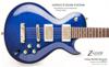LaVoce Custom flame maple top Z-GLIDE Trans Blue