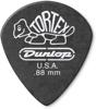 Dunlop 482P088 TORTEX Pitch Black Jazz III 12/PLYPK