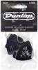 Dunlop 483P03HV Genuine Celluloid Black Picks (Heavy) 12/PLYPK