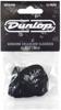 Dunlop 483P03MD Genuine Celluloid Black Picks (Medium) 12/PLYPK