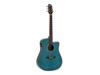 Dimavery STW-90 Western Guitar, crystal blue