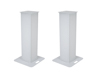 2x Stage Stand 100cm incl. Cover and Bag, white