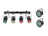 Set 2x LED SLS-6 TCL Spot + LED QDF-Bar RGBAW Light set