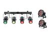 Set 2x LED SLS-7 HCL Floor + LED QDF-Bar RGBAW Light set