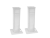 2x Stage Stand variable incl. Cover and Bag, white