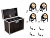 Set 4x LED 4C-7 Silent Slim Spot + USB QuickDMX + Case
