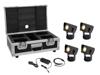 Set 4x AKKU Dot 1 RGB/WW QuickDMX bk + Charger + Case