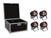 Set 4x LED IP PAR 3x9W SCL Spot + Case