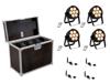 Set 4x LED 7C-7 Silent Slim Spot + USB QuickDMX + Case