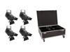 Set 4x LED THA-150F + Case