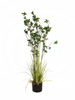 Evergreen shrub with grass, artificial plant, 120cm