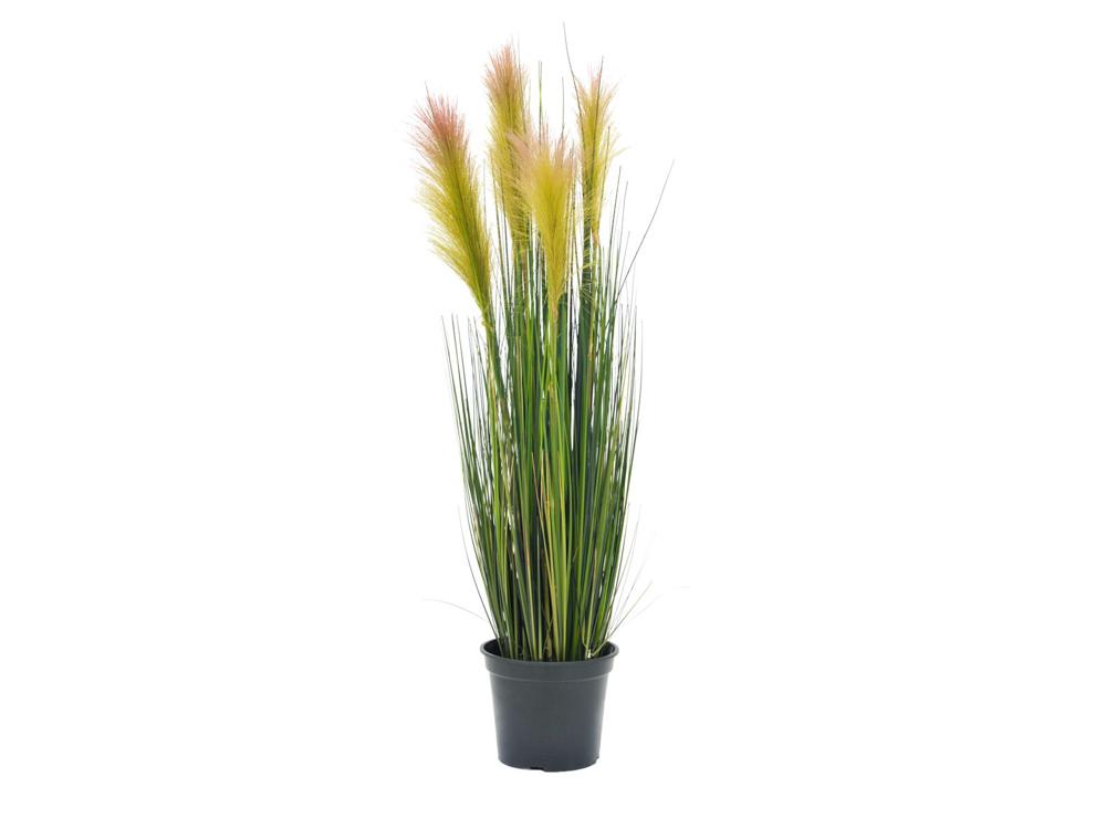 Europalms Feather grass, artificial, rose, 90cm